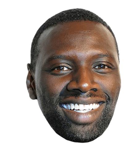 Omar Sy Maske aus Karton