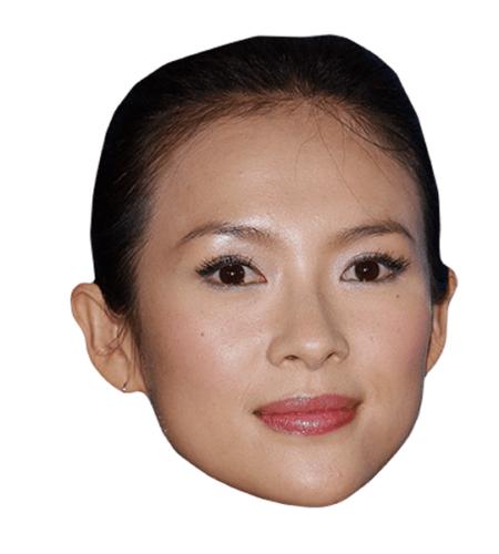 Zhang Ziyi Maske aus Karton