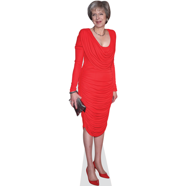 Theresa May (Red Dress)
