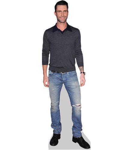 Jumper Pappaufsteller lebensgross Celebrity Cutouts Adam Levine