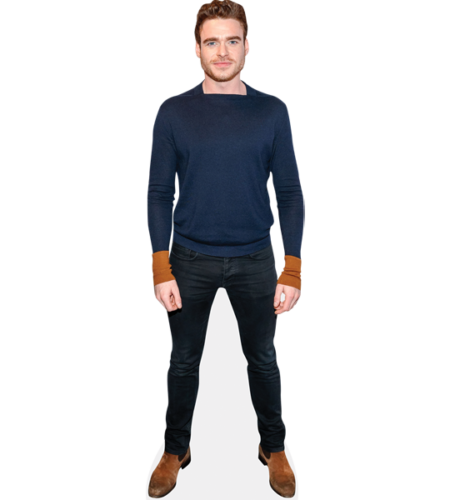 Richard Madden Blaue Jacke Promi Lebensechte Größe und Mini Pappfigur Aufsteller