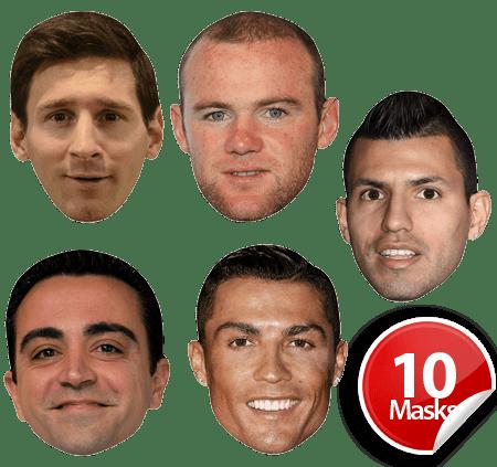 World Footballers Mask Pack