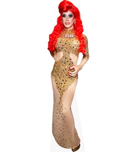 Divina De Campo (Gold Dress)
